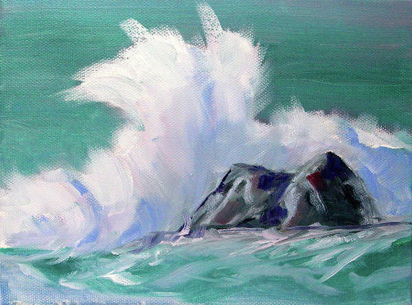Wall Art - Painting - Rocky Coastline by Nancy Merkle
