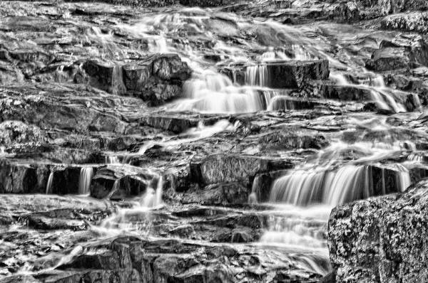 Photograph - Rocky Falls Monochrome by Steve Stuller