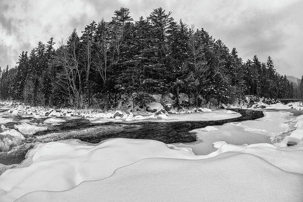 Photograph - Rocky Gorge N H, River Bend 1 by Michael Hubley
