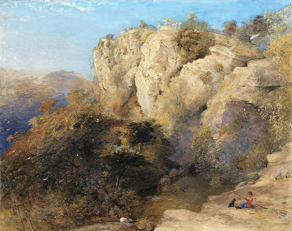 Wall Art - Painting - Rocky Landscape In Wales - Digital Remastered Edition - Digital Remastered Edition by Samuel Palmer