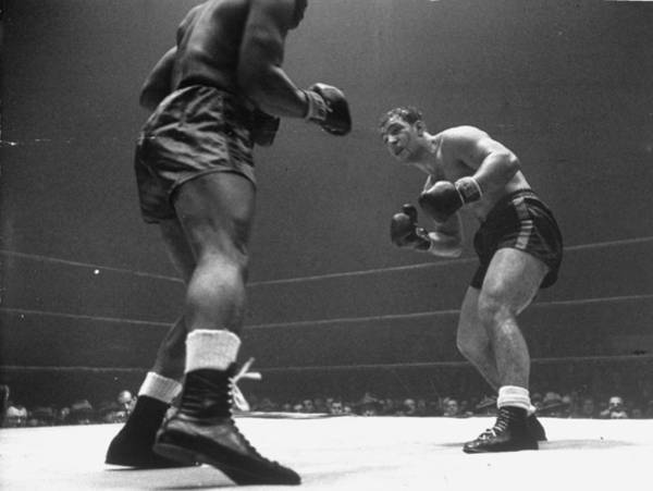 Boxing Photograph - Rocky Marciano by Eliot Elisofon