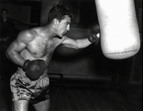 Wall Art - Photograph - Rocky Marciano Training C. 1953 by Daniel Hagerman