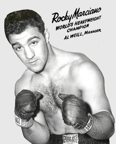 Wall Art - Photograph - Rocky Marciano World Boxing Champion - T-shirt by Daniel Hagerman