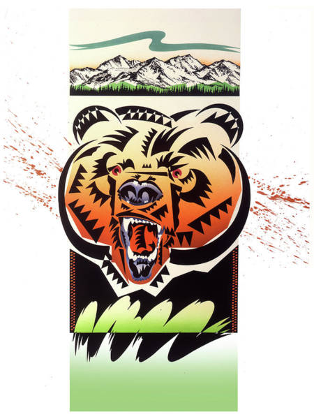 Wall Art - Painting - Rocky Mountain Grizzly by Garth Glazier