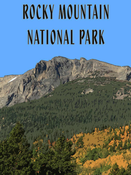 Mixed Media - Rocky Mountain National Park Poster by Dan Sproul