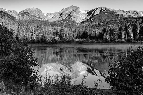 Wall Art - Photograph - Rocky Mountain Peaks In Monochrome - Estes Park Colorado by Gregory Ballos