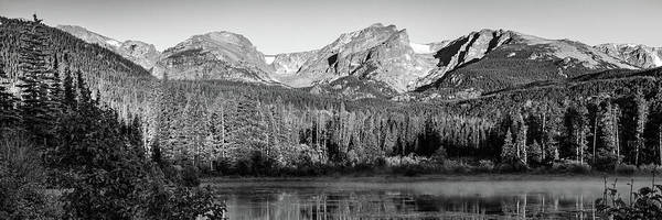 Wall Art - Photograph - Rocky Mountain Peaks In Monochrome - Estes Park Colorado Panorama by Gregory Ballos