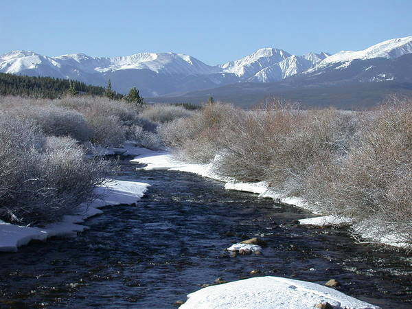 Waters Edge Photograph - Rocky Mtn River by Mtnsnail