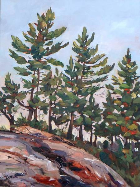 Painting - Rocky Pines by Monica Ironside