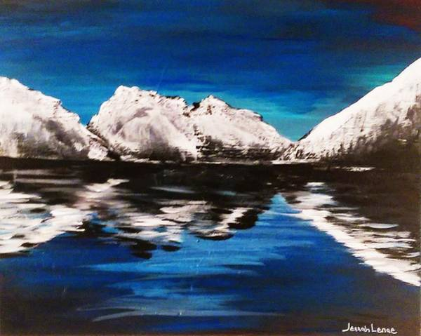 Painting - Rocky Reflection  by Jennah Lenae