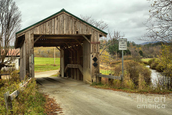 Photograph - Rocky Road Covered Bridge by Adam Jewell