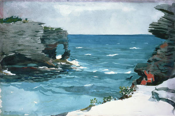 Ditch Painting - Rocky Shore, Bermuda - Digital Remastered Edition by Winslow Homer