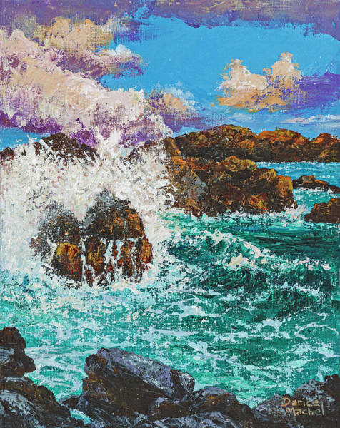 Painting - Rocky Splash by Darice Machel McGuire