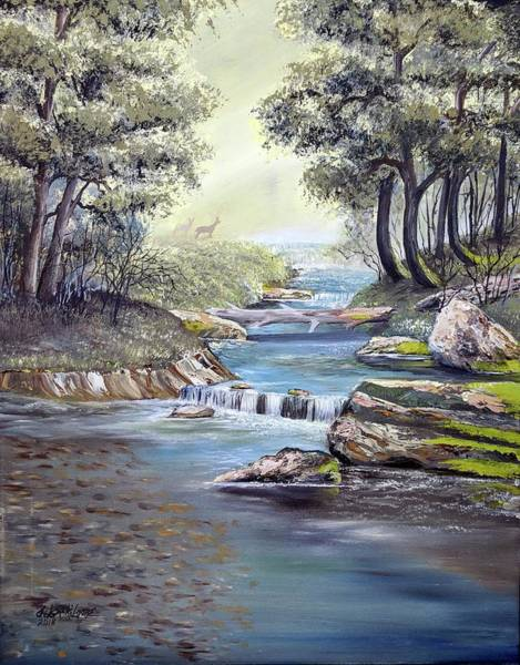 Painting - Rocky Stream by Deleas Kilgore