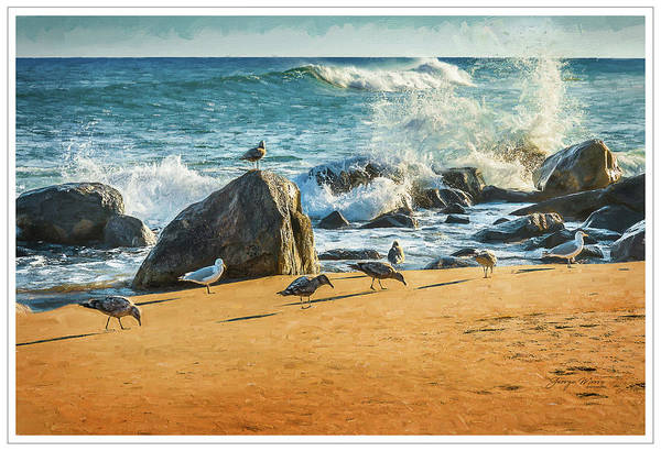 Wall Art - Photograph - Rocky Surf Block Island by George Moore
