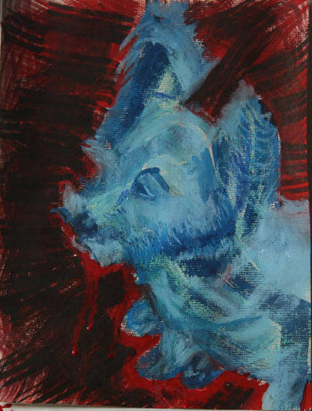 Mixed Media - Rocky The Blue Westy by Siobhan Dempsey