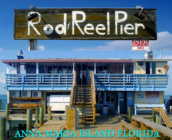 Wall Art - Photograph - Rod And Reel Pier Poster A by David Lee Thompson