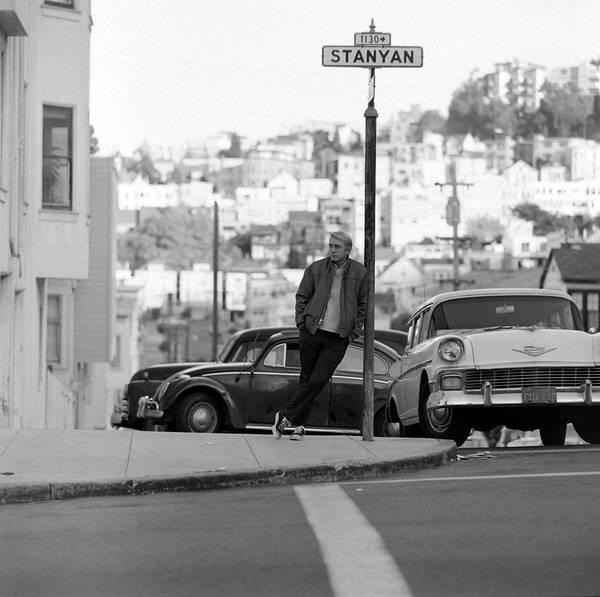Poet Photograph - Rod Mckuen On Stanyan Street by Ralph Crane