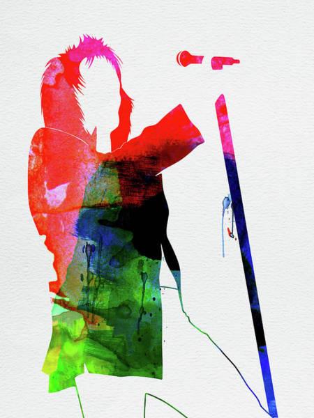 Jazz Mixed Media - Rod Stewart Watercolor by Naxart Studio