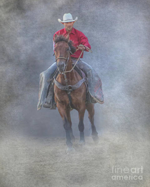 Bucking Bronco Digital Art - Rodeo Cowboy At The Rodeo by Randy Steele