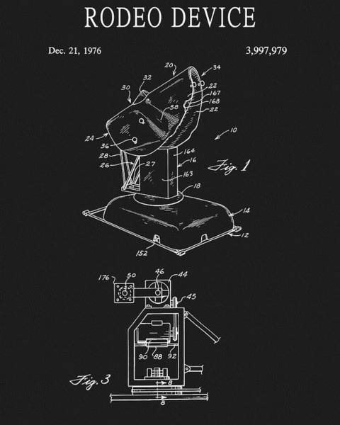Drawing - Rodeo Device Patent by Dan Sproul