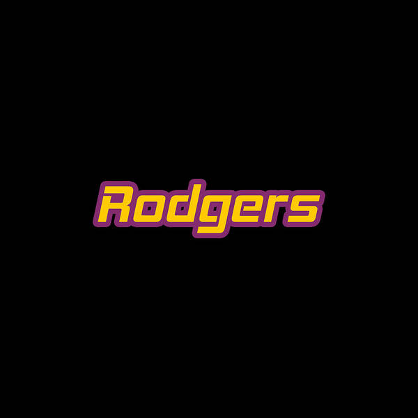 Wall Art - Digital Art - Rodgers #rodgers by Tinto Designs