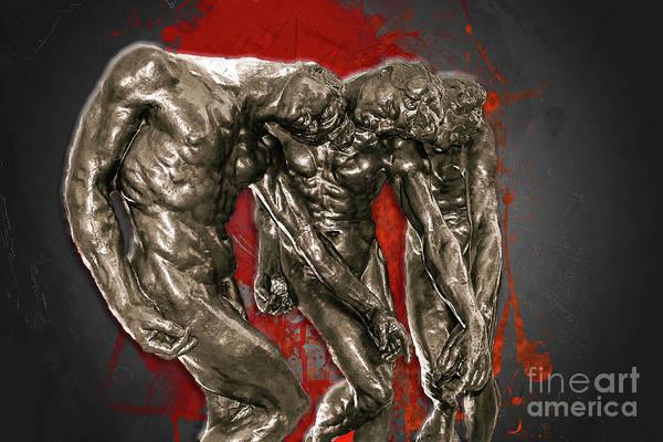 Photograph - Rodin - The Three Shades by Carlos Diaz
