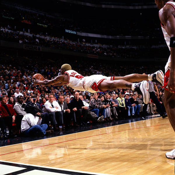 Chicago Photograph - Rodman Dives For Loose Ball by Sam Forencich