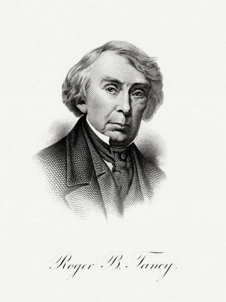 Matter Painting - Roger B. Taney by The Bureau of Engraving and Printing
