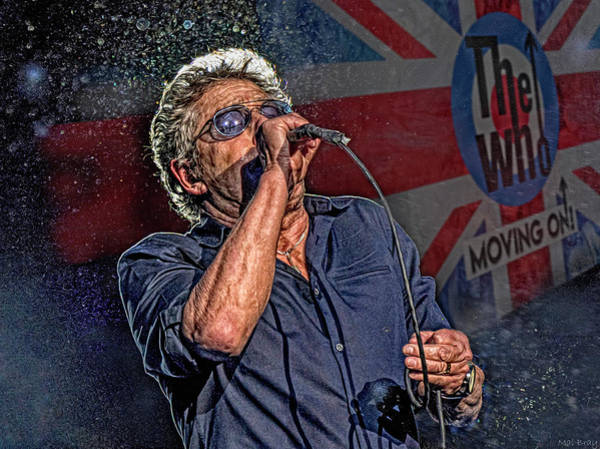 Wall Art - Mixed Media - Roger Daltrey The Who by Mal Bray