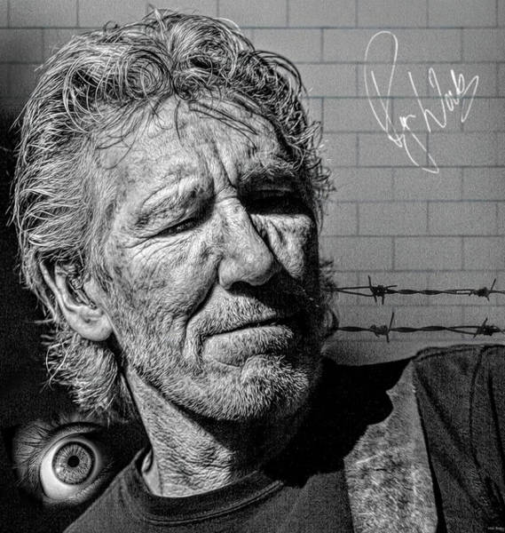 Wall Art - Mixed Media - Roger Waters English Musician by Mal Bray