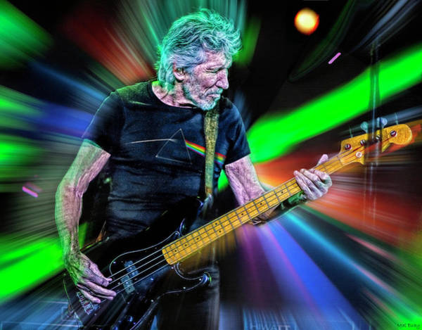 Wall Art - Mixed Media - Roger Waters by Mal Bray