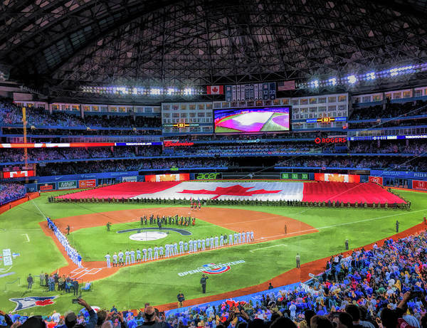 Painting - Rogers Centre Toronto Blue Jays Baseball Ballpark Stadium by Christopher Arndt