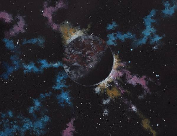 Science Fiction Painting - Rogue Planet by Michael Zawacki