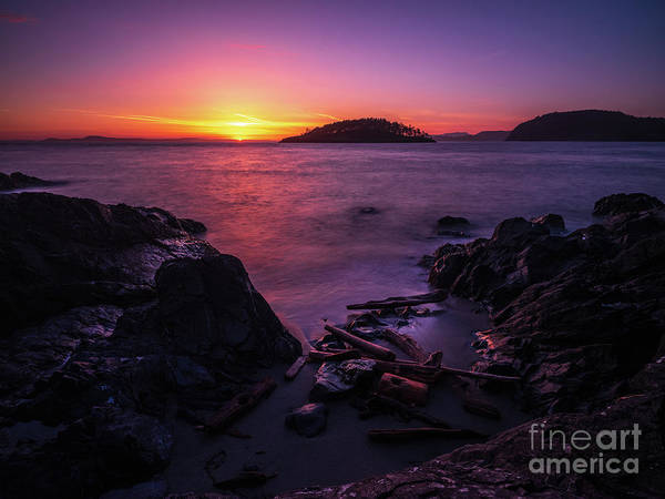 Wall Art - Photograph - Rocky Beach Shades Of Sunset Light by Mike Reid