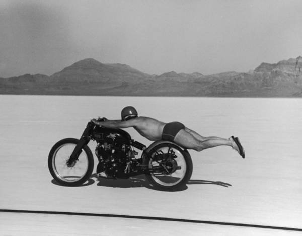 Human Interest Photograph - Roland Free Breaks Speed Record by Peter Stackpole