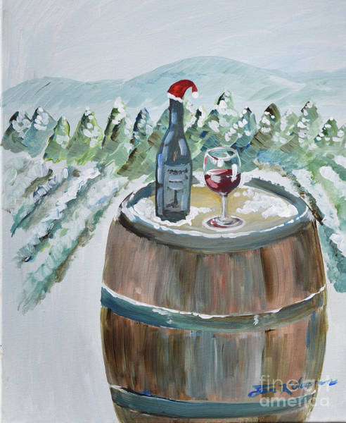 Painting - Roll Out The Barrel - Christmas Cheer by Jan Dappen