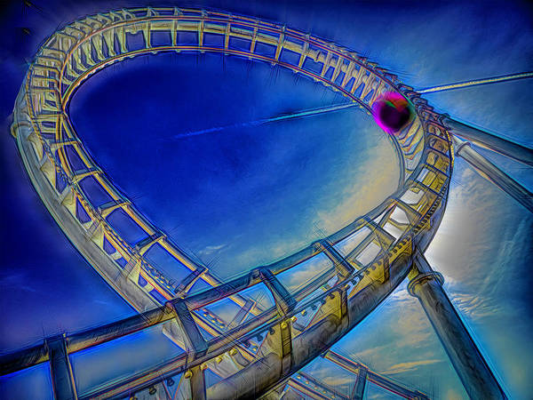 Photograph - Roller Coaster Ocean City Md by Paul Wear