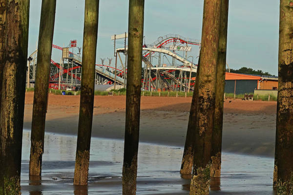 Wall Art - Photograph - Roller Coaster Through The Pylons Old Orchard Beach Maine by Toby McGuire