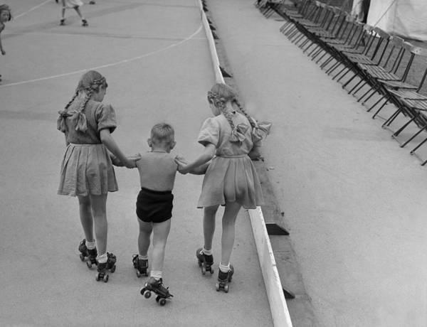 Roller Photograph - Rollerskating by William Vanderson