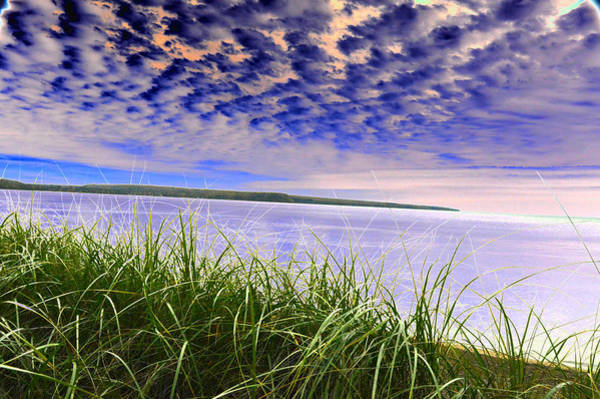 Rolling Blue Sky Over Lake Superior Art Print