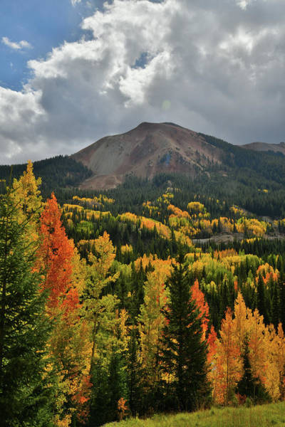 Photograph - Rolling Clouds Above Red Mountain And Fall Colors by Ray Mathis