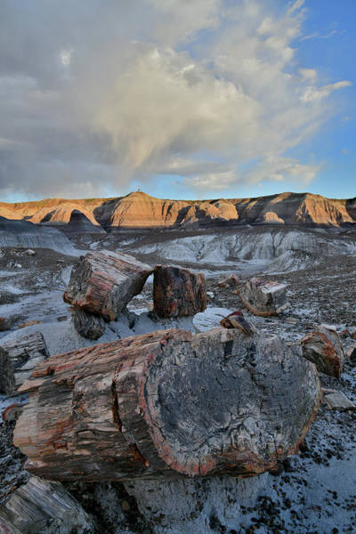 Photograph - Rolling Clouds Over Blue Mesa At Sunset by Ray Mathis