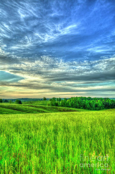Photograph - Rolling Hills Glorious Hay Field Sunrise Landscape Farming Art by Reid Callaway