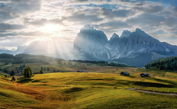 Photograph - Rolling Hills Of Alpe Di Siusi by Dmytro Korol