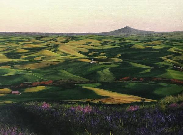 Painting - Rolling Hills Of Palouse by Elizabeth Mundaden
