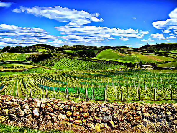 Wall Art - Digital Art - Rolling Hills by The Davmandy Collection
