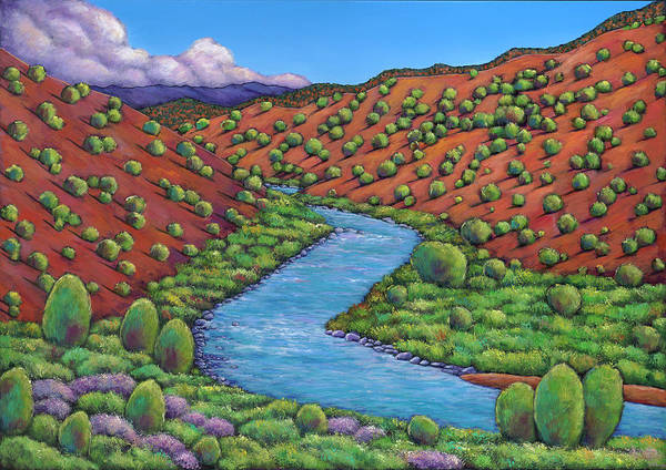 Colorado Landscape Painting - Rolling Rio Grande by Johnathan Harris