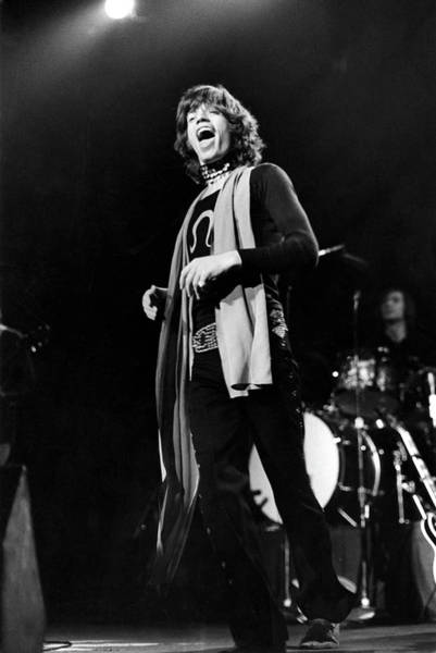 Photograph - Rolling Stones At Msg by Fred W. McDarrah