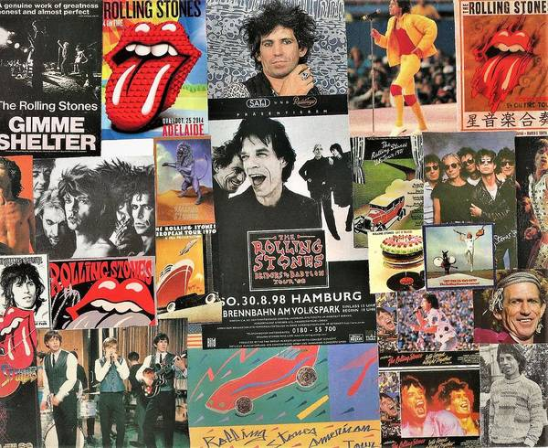 Let It Bleed Digital Art - Rolling Stones Collage 2 by Doug Siegel